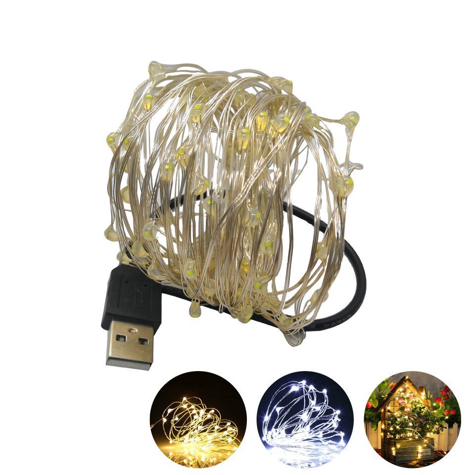 1-10M LED String Lights For Christmas Holiday Lighting New Year Garland Party Wedding Home Decoration Fairy Lights Battery Power