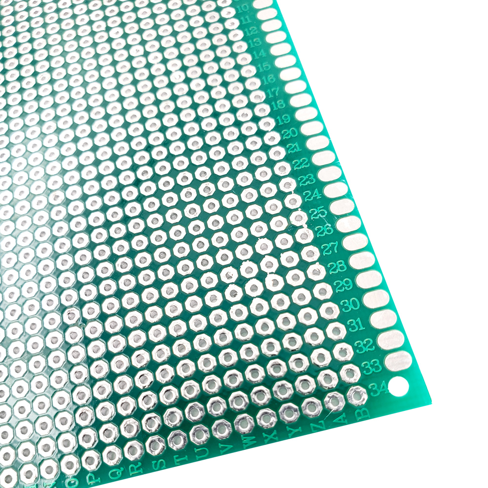 Image 4 - 20 pcs 9x15 cm PROTOTYPE PCB 2 layer 9*15CM panel Universal Board double side 2.54MM Green-in Double-Sided PCB from Electronic Components & Supplies