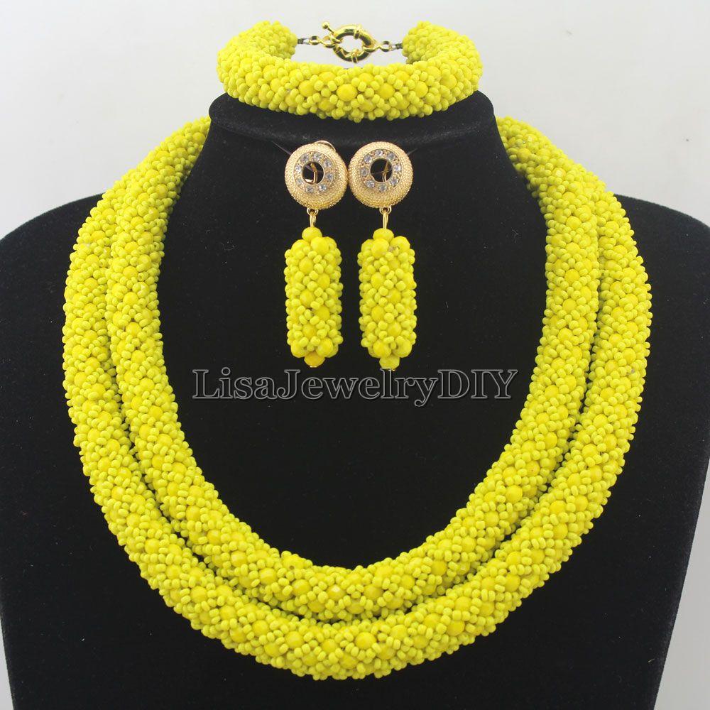 56918199137f5 الحصري بيان الخرز الأفريقي مجموعة المجوهرات مجموعات مجوهرات الزفاف اليدوية  النسائية المجوهرات مجموعة HD7276