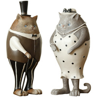 Living Room Wine Cabinet Decoration Cute cat American Nordic soft cabinet Home improvement home decorations Cat furnishings
