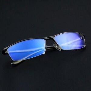 Image 3 - KATELUO 2020 alüminyum bilgisayar gözlük Anti mavi ışık yorgunluk radyasyon dayanıklı erkek gözlük optik gözlük çerçevesi 130