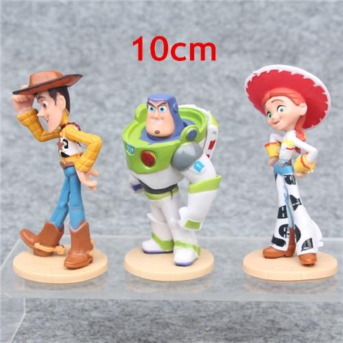 4 series  Cartoon 4 Buzz Lightyear Woody Jessie Lotso Bullseye Horse Figure Toys