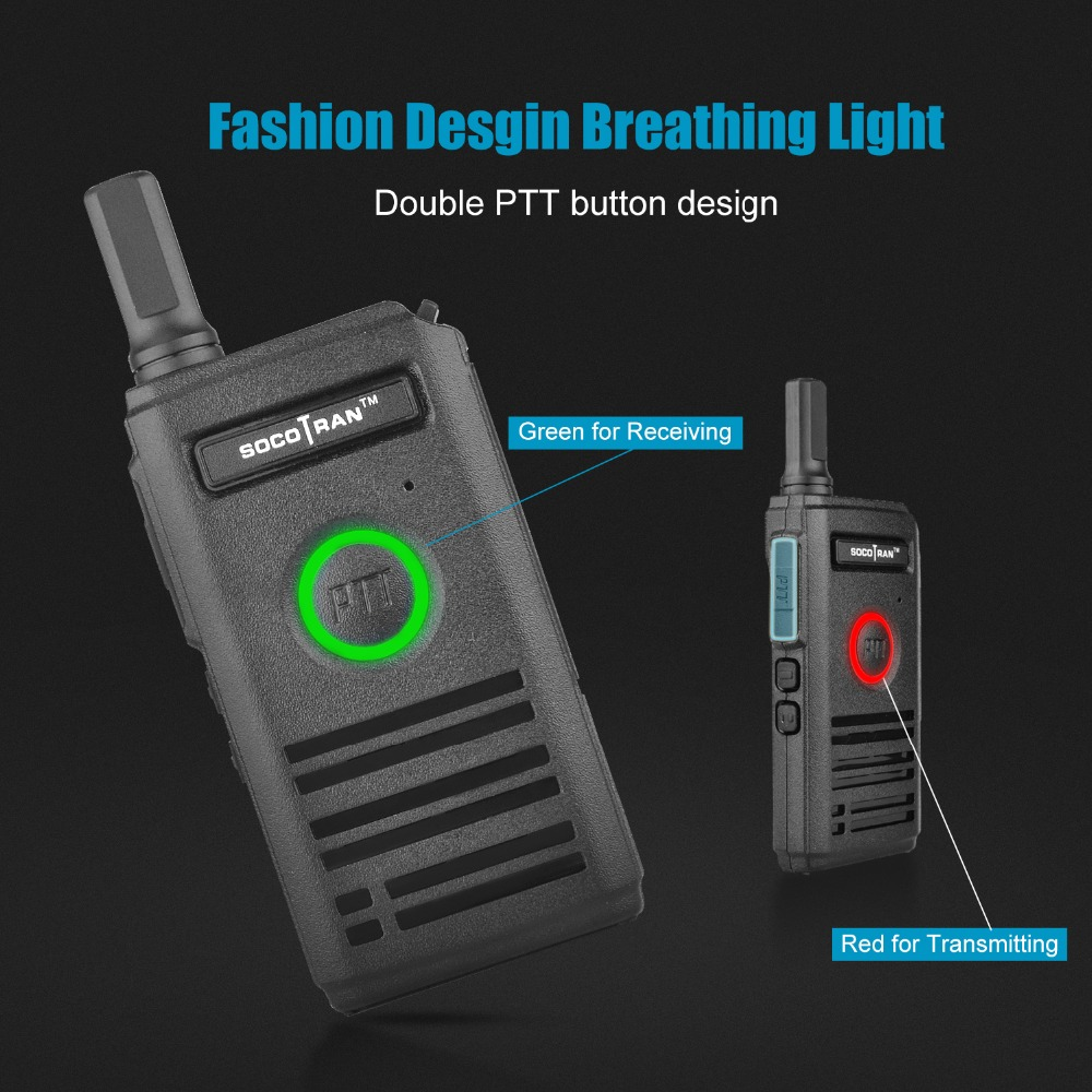 Navio de ru socotran SC-600 uhf mini walkie talkie rádio amador 400-470 mhz ultra fino rádio em dois sentidos duplo ptt respiração luz