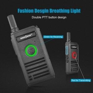 Image 2 - SOCOTRAN SC 600 UHF mini walkie talkie Amateur Radio 400 470MHz Ultra dünne zwei weg radio doppel PTT atmen licht