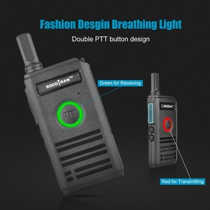 Image 2 - SOCOTRAN SC 600 UHF mini walkie talkie Amateur Radio 400 470MHz Ultra slim two way radio double PTT breathing light