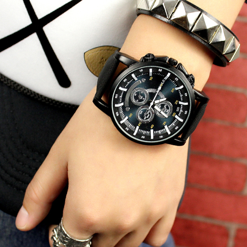 2019 Yazole Men Watch Luxury Top Brand Business Male Clock Quartz-wristwatch Leather Watch Relogio Masculino Reloj Hombre Saati