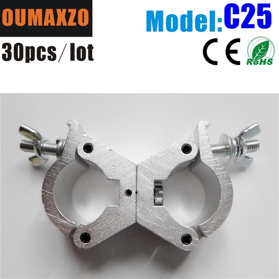 30pcs/lot Half Coupler DJ Truss Hook Clamp for 29-35mm Tube aluminum truss clamps,cast aluminum pipe clamp Quick Trigger Hook