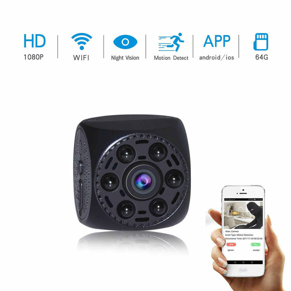 Vandlion WIFI Network P2P Mini Camera Video Cam Voice Recorder Motion Detection Mini Camcorder SMS Alarm Digital Recorder A10