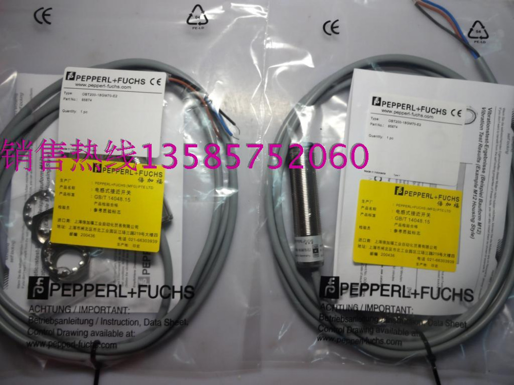 OTB200-18GM70-E2 New High-Quality Pepperl+Fuchs P+F Proximity Switch Sensor Warranty For One Year proximity switch ime12 04bpozc0s pnp nc m12 sick 100% brand new high quality warranty for one year