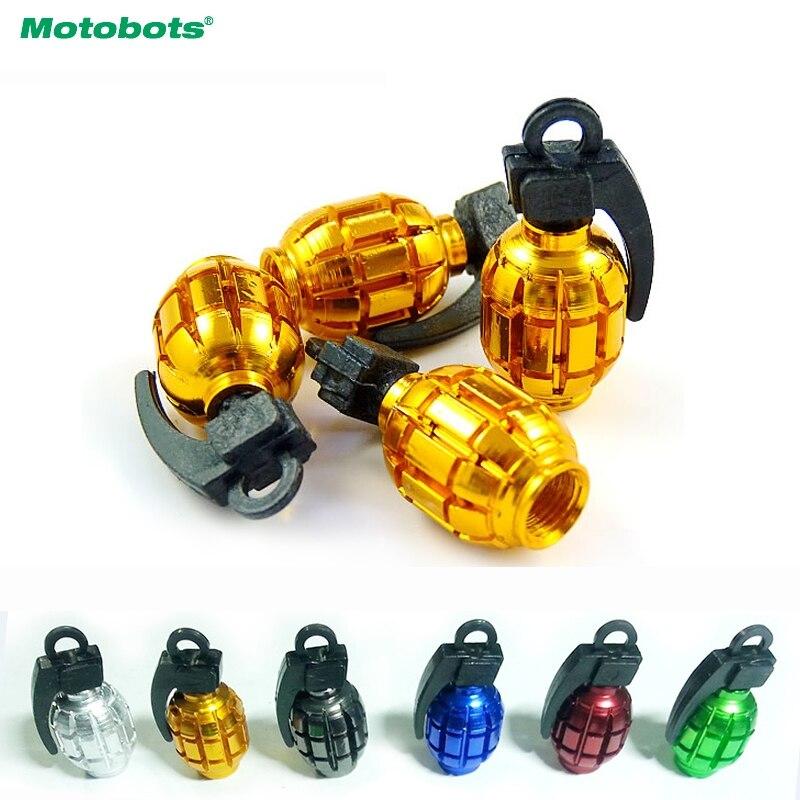 Cool Golden Grenade Shaped Car Auto Tire Valve Caps Cover