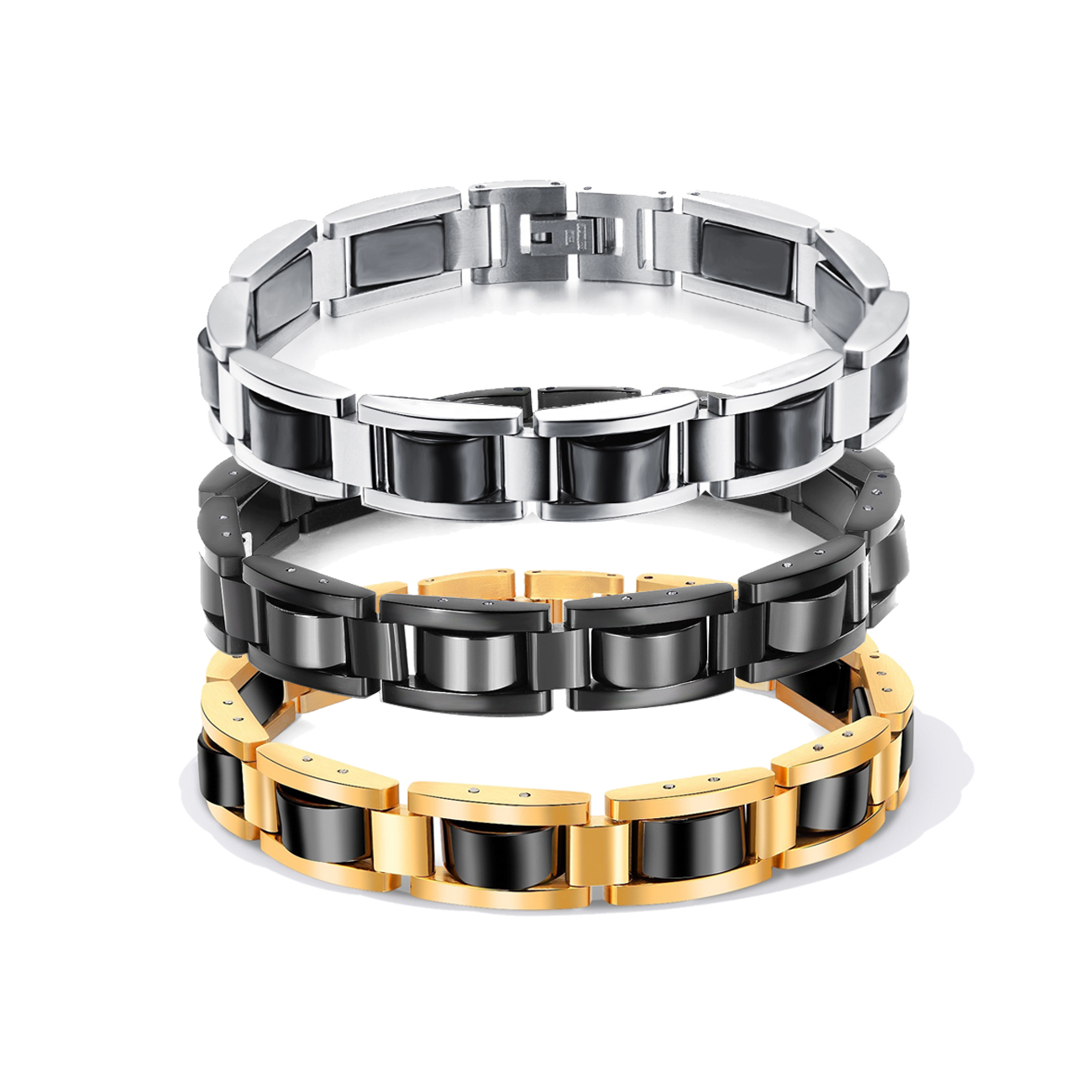 Bike Chain Mens Fashion Health Energy Magnetic Bracelet Bangle 316L Stainless Steel Health Care Bracelet & Bangle for MenBike Chain Mens Fashion Health Energy Magnetic Bracelet Bangle 316L Stainless Steel Health Care Bracelet & Bangle for Men
