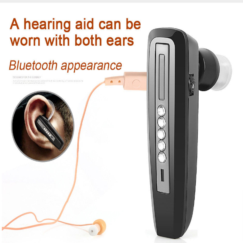 S-101 Bluetooth Hearing Aid Rechargeable Elderly Binaural Ear Sound Amplifier Hearing Aids Deaf Ear Care Tool Devices Freeship feie rechargeable hearing aid earphones s 101 bluetooth style behind ear sound amplifier usb charger free shipping