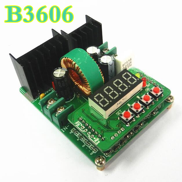 B3606 DC voltmeter ammeter power supply adjustable step-down module constant voltage current buck LED driver solar charger50%off free shipping compatible projector lamp with housing 78 6969 9893 5 for 3m x90 x90w