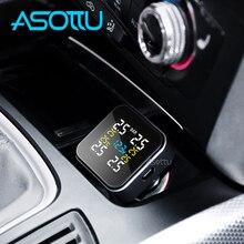 Asottu автомобильный TPMS система контроля давления в шинах автоматическая система охранной сигнализации s прикуриватель цифровой ЖК дисплей