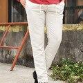 Pantalones de Lino ocasionales de Los Hombres Nuevo Estilo de Los Hombres de Moda de Marca para Hombre Pantalones Deportivos Rectas Pantalones Largos Ropa de Hombre de Algodón Pantalones Largos