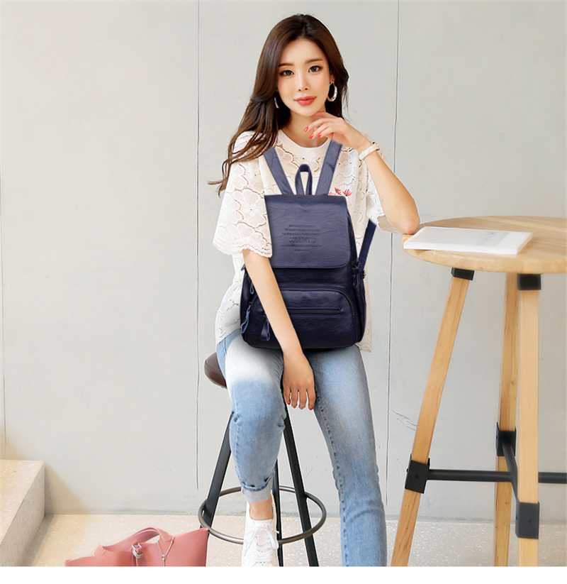 HTB158QUiOCYBuNkHFCcq6AHtVXai LANYIBAIGE 2018 Women Backpack Designer high quality Leather Women Bag Fashion School Bags Large Capacity Backpacks Travel Bags