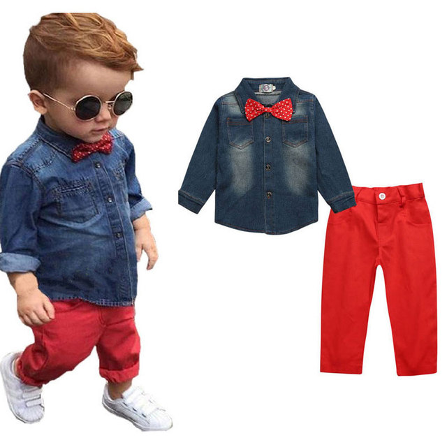 47ec9d872892c New Hot Fashion Child Boutique Clothes Bow Tie Boy Wedding Outfit Suit  Toddler Boy Formal Clothes Kids Outfits Suits For Boys