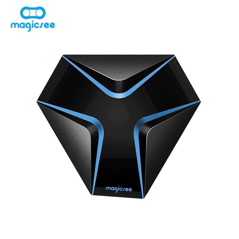 Magicsee de hierro Amlogic S905X Android 7,1 caja de TV Quad-core 4 K Resolución 2 GB/16 GB soporte 2,4G WIFI LAN HDMI H.265 caja inteligente