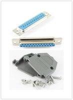 10 takım Plastik Kapak Konut Hood Katiyen D-SUB 25 Pin 2 Satırlar DB25 Pin Dişi Seri Konnektörler
