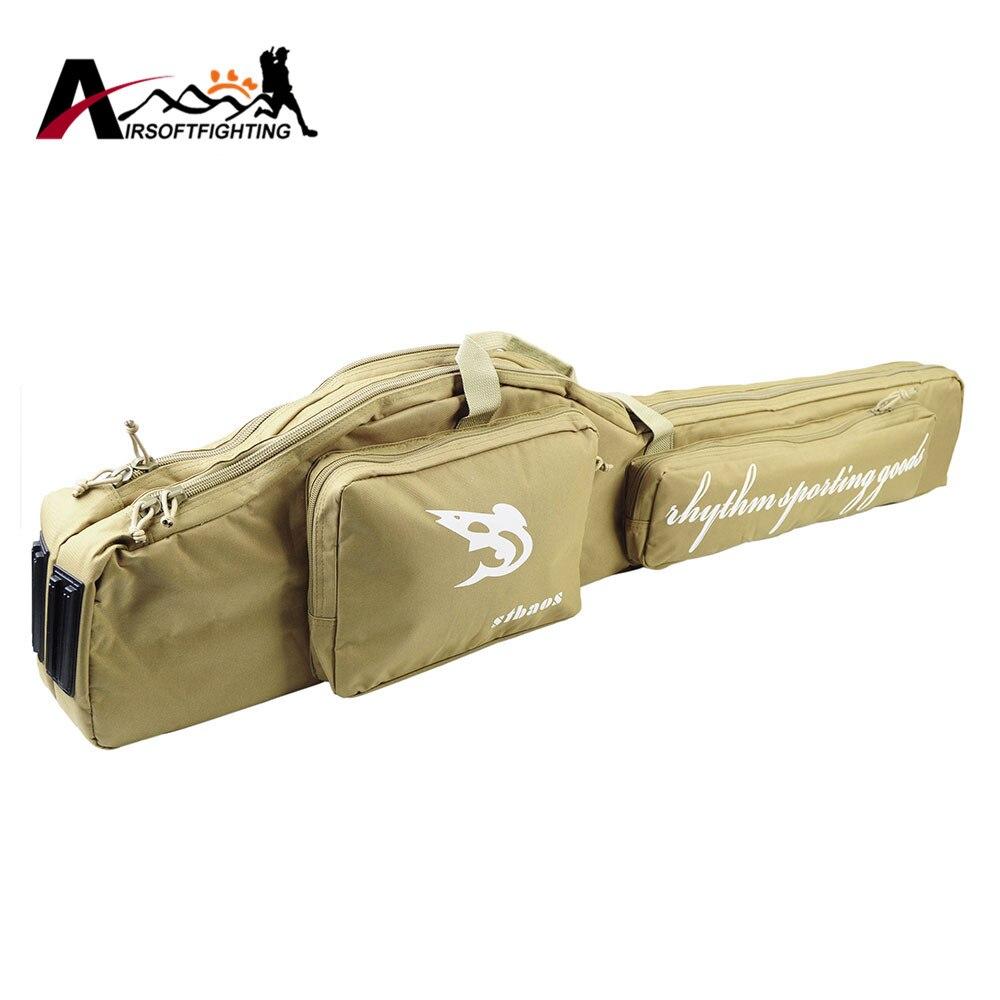 Prix pour 47 ''Pliant Canne À Pêche Sac Tactique Duel Fusil Sac de Transport avec Bandoulière En Plein Air Pêche Chasse Vitesse Accessoire sac