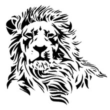 17.2*17CM Wild Mighty Lion Vinyl Car Stickers Western Styling Tuck Body Decal