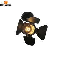 Indoor E27 Vintage Ceiling Light Suitable For Clothes Shop Iron RH Loft Ceiling Lights For Coffee
