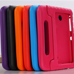 Image 5 - Case for Samsung Galaxy Tab 4 8.0 T330 T331 hand held full body Kids Children Safe Silicone for SM T330 SM T331 tablet cover