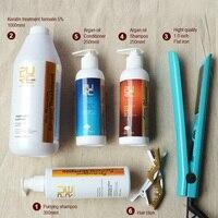Набор по уходу за волосами кератин Лечение волос и кератина очищающий шампунь и аргановое масло для волос шампунь и кондиционер для волос