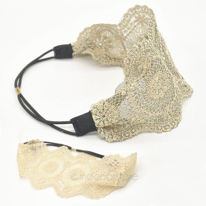 HOT Womens Girls Hair Accessories Lace Headband Retro Hair Band Wide Headwraps BMPJ015