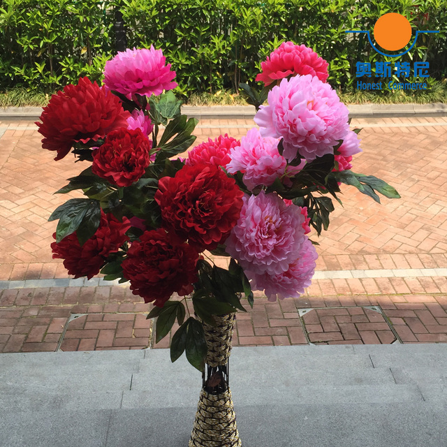 big size artificial flower bouquets Real Touch 3 heads one branch ...
