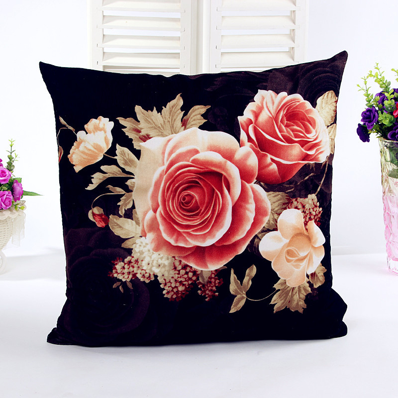 Cushion Cover Flower Pattern Throw Pillow Case Sofa Home Chair Decorative Coussin de salon Kussenhoes Capa almofada