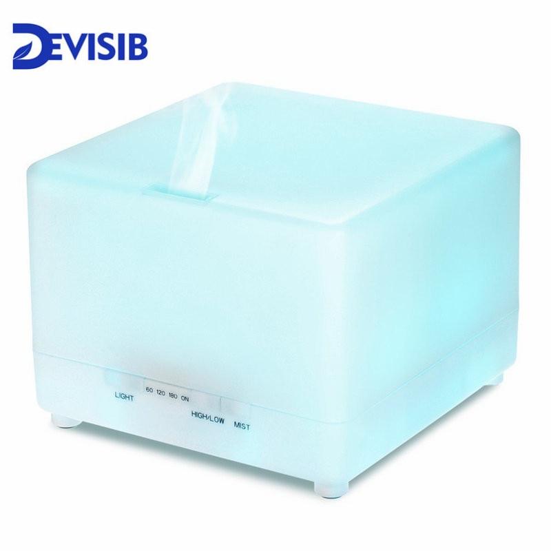 DEVISIB Huile Essentielle Diffuseur 700 ml Air Humidificateur Arôme Lampe Aromathérapie Électrique Ultrasons Aroma Diffuseur Mist Maker