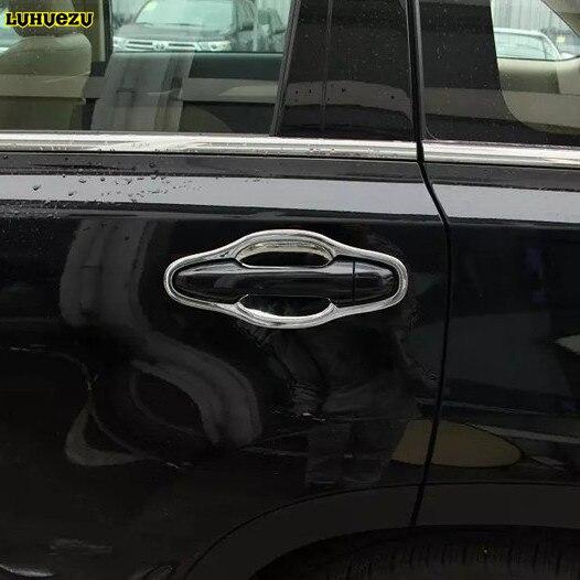Luhuezu Chromed Door Handle Cover Door Handle Bowl For Toyota Highlander Kluger 2014-2017 Accessories