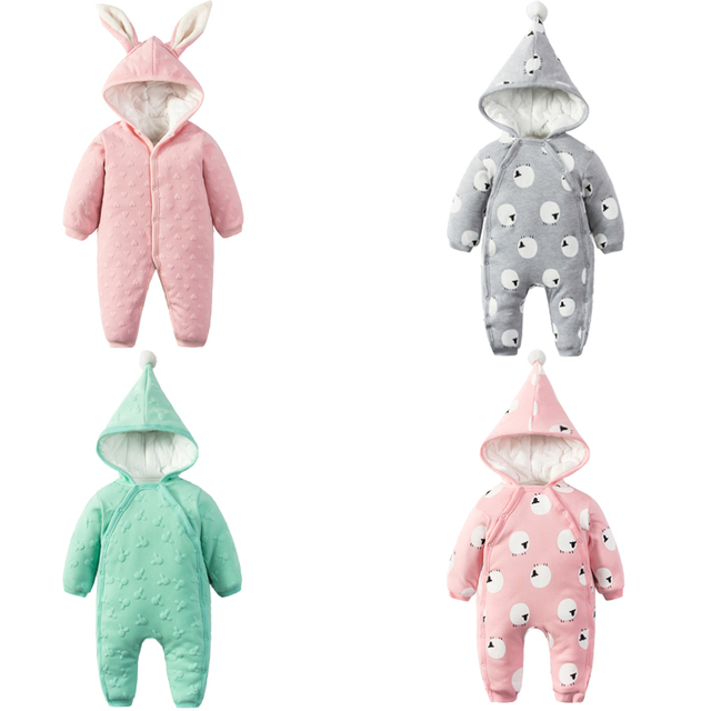e6cfd6f96515 Newborn Baby Rompers Baby Boy Girl Clothes Fashion Autumn Winter Cotton Infant  Jumpsuit Long Sleeve Rompers