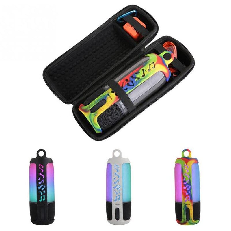 2 в 1 жесткий Eva сумка для хранения на молнии + Мягкий силиконовый чехол для Jbl Pulse 3 Bluetooth динамик для Jbl Pulse 3