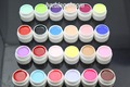 Free Shipping 24*0.25 OZ Mixed Different Pure Colors Nail Art UV Builder Gel Set for Nail Beauty Salon Supplies 24pcs/Set