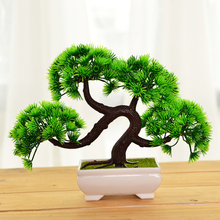 Simulation Of Plastic Pine Bonsai Plastic Green Pine Tree Plant Ornament For Aquarium China Huangshan Welcome Song Bonsai