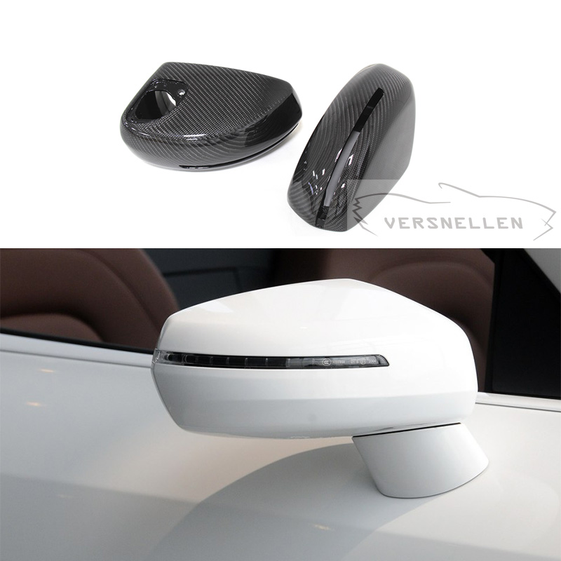 R8 TOP Quality PU Protect Carbon Mirror Caps 1:1 Replacement Side Mirror Cover for Audi R8 MK2 2013 2014|Mirror & Covers| |  - title=