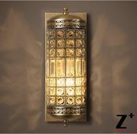Americano Annata 19A C. CASBAH CRISTALLO SCONCE Stile Art deco lampada Da Parete illuminazione lustro di cristallo 1 luci