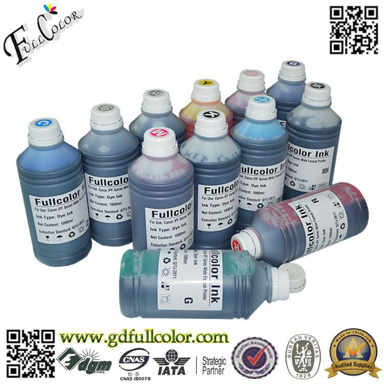 Бесплатная доставка 12 видов цветов пигментные чернила для Canon iPF5000 широкоформатный принтер с 12 шт. картридж Бесплатная