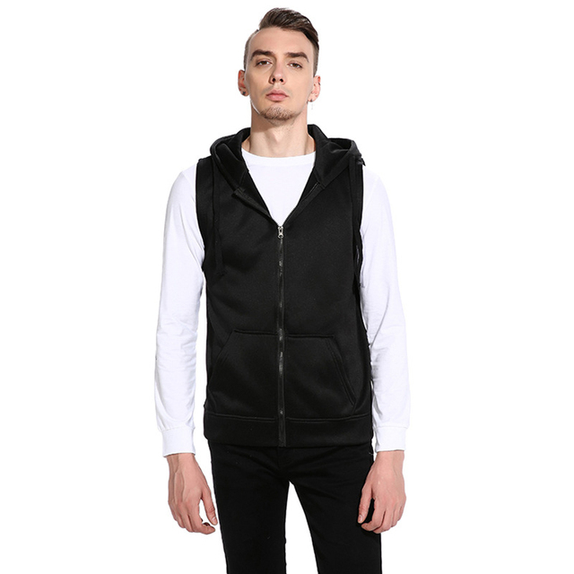 Vertvie Men s Sports Waistcoat Running Training Sport Suit Sleeveless  Hooded Man Jackets Fitness Outwork Tracksuits Men Costumes e1aa196de