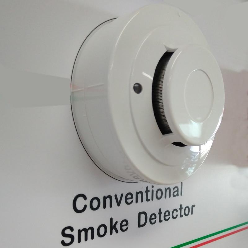 Photoelectric Smoke Detector 2 Wire Sensor Optical Smoke Alarm  DC9-28V For Conventional Fire Alarm System