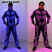 Новое поступление светодиодный робот костюм/светодиодный танец производительность/световой Костюмы/светодиодный костюмы для Для мужчин Для женщин DJ Показать свет Костюмы