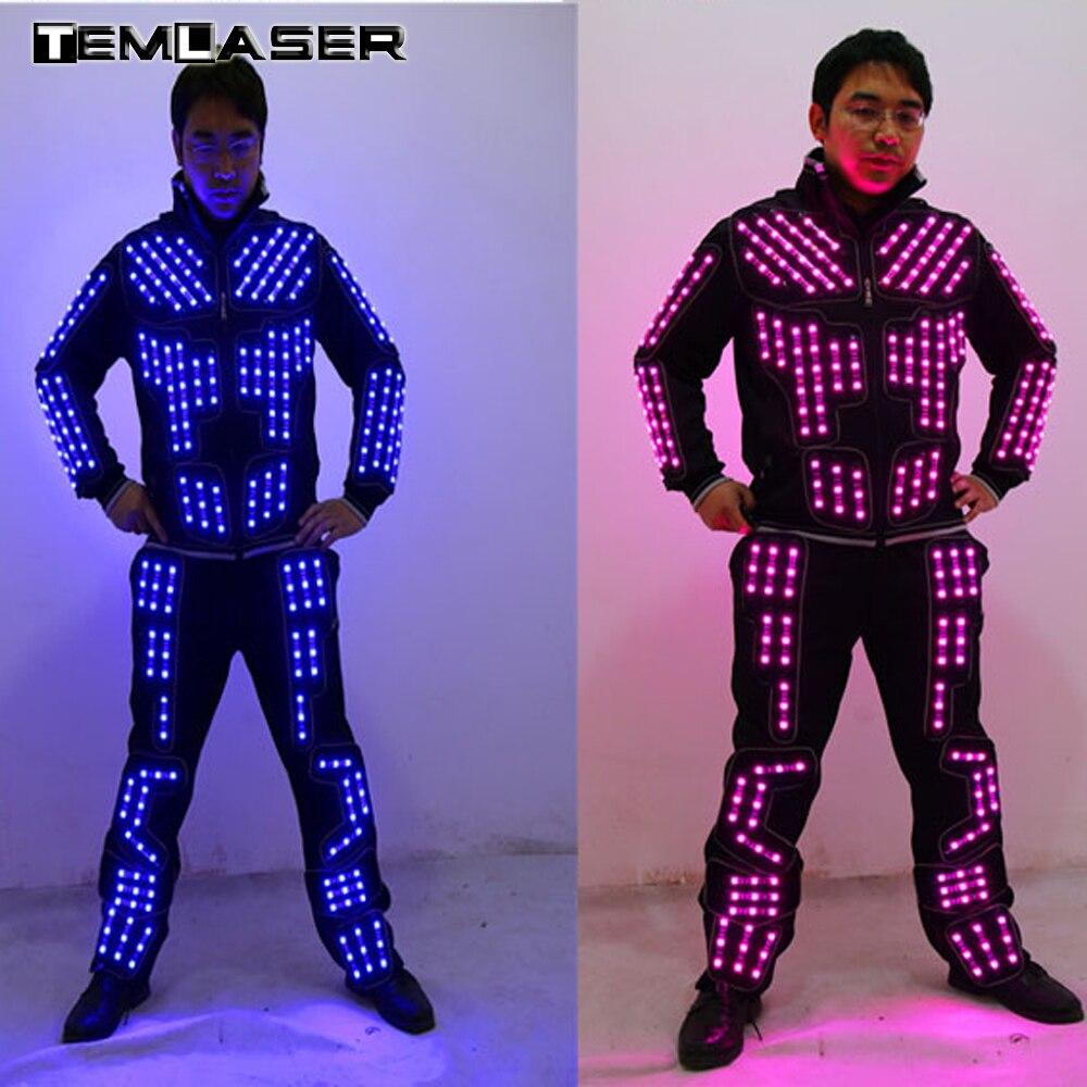 ツ)_/¯Nuevo llegado traje de robot LED/LED Dance performance/ropa ...