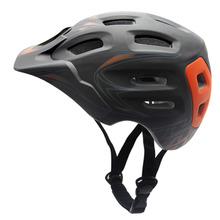 Unisex 19 vents Bicycle Motorcycle Helmet EPS Mountain Bike Cycling Helmet With removable Visor integrally molded helmet 4 color