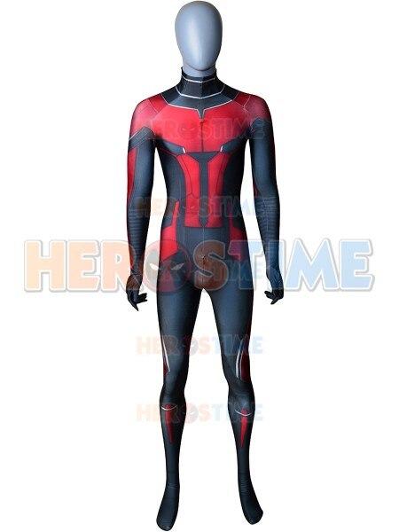 Adult Men Kids Ant Man Cosplay Costume Spandex Zentai Suit 3D Print Ant Man Halloween Zentai Catsuit Costume