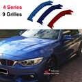 3D M ספורט שפתוחה גריל רצועת גריל כיסוי מדבקות עבור 2014-2017 BMW 4 סדרת F32 F33 F36 420 425 430 435 440 (9 סורגים)