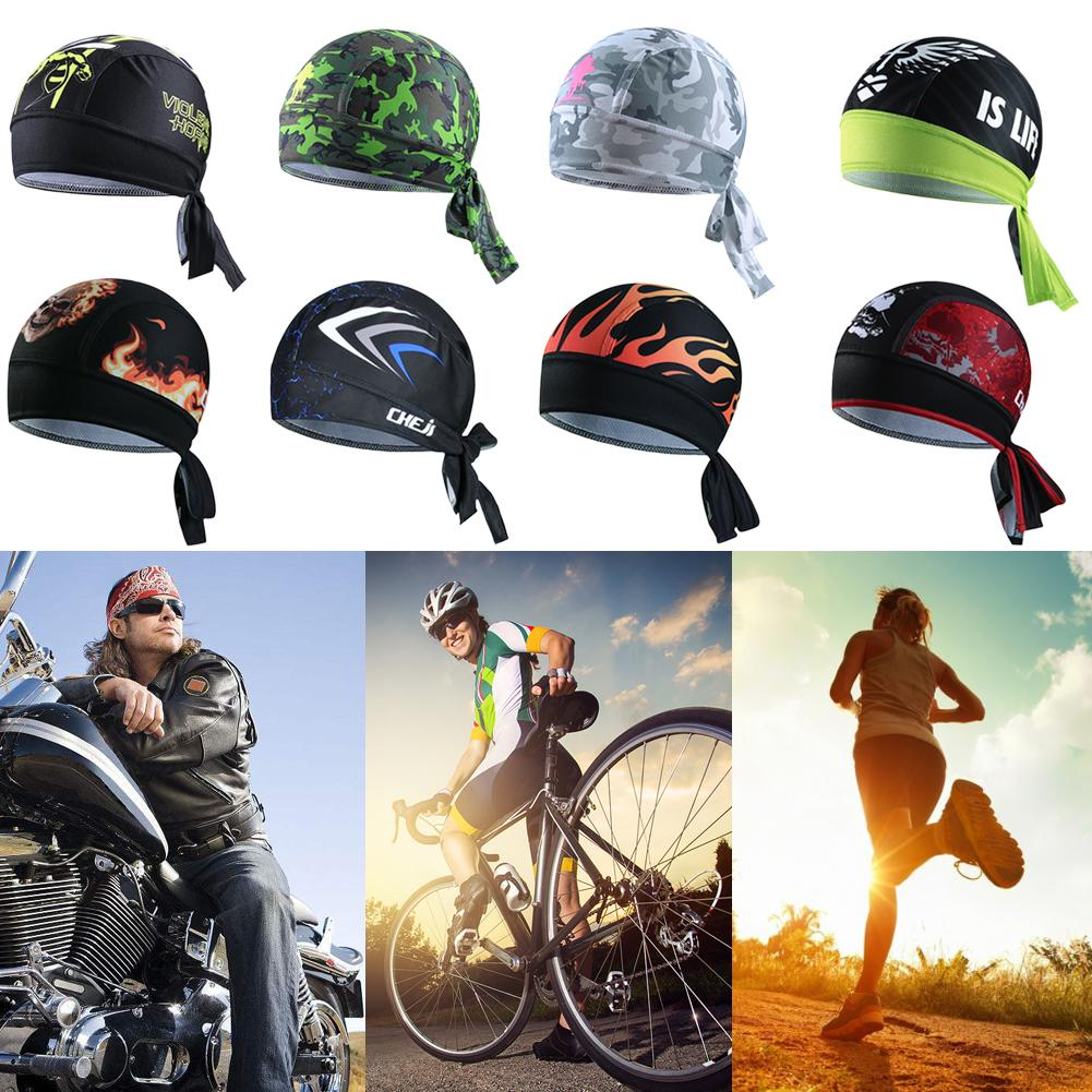 New Personalized Bike Bicycle Cycling Hat Cap Running Bandana Headband Pirate Beanie   Headwear   For Men