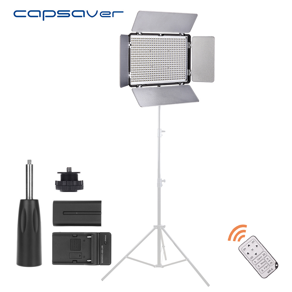 capsaver TL-600AS LED Video Light 600 LED Dimmable Bi-color 3200K-5600K Photography Lighting Photo Studio Light Panel Lampcapsaver TL-600AS LED Video Light 600 LED Dimmable Bi-color 3200K-5600K Photography Lighting Photo Studio Light Panel Lamp