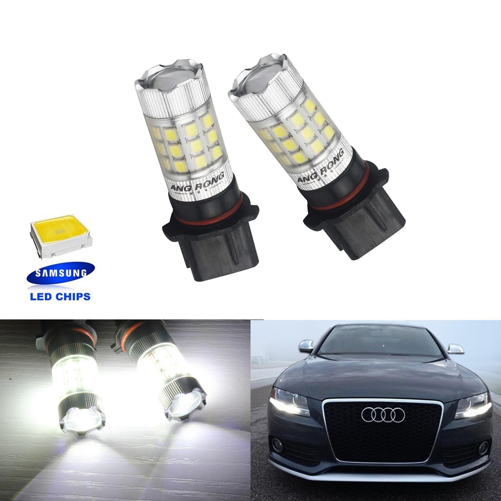 Audi A6 Allroad C6 White LED Superlux Side Light Beam Bulbs Pair Upgrade